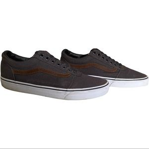 Vans Off The Wall Grey & Brown Loafers Men's 10.5